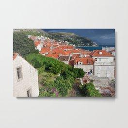 Red Tiled Houses In Dubrovnik Old Town Metal Print
