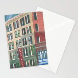 City Buildings View, downtown Oakland Stationery Cards