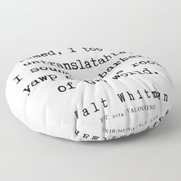 6     | Walt Whitman Quotes | 190803 Floor Pillow