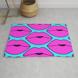 Hot Pink Close up Lips Rug