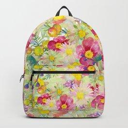 Watercolour Bush Wildflower Garden Backpack