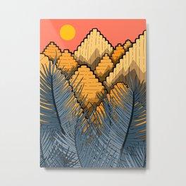Pyramid Mountains Metal Print