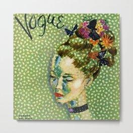 19315 Vintage Art Deco Flapper Jazz Age Young Woman Magazine Cover by Eduardo Garcia Benito Metal Print