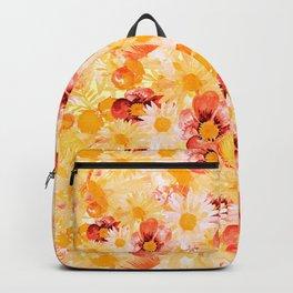 Sunshine Yellow Floral Garden Backpack