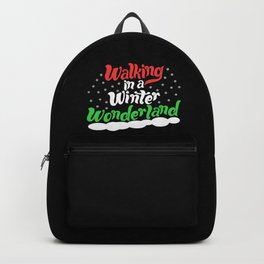 Walking through a Winter Wonderland Backpack