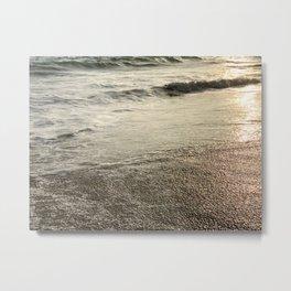 Sunlit Ocean Coast Metal Print