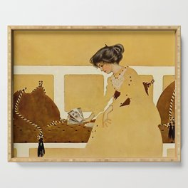 """C Coles Phillips 'Fadeaway Girl' """"Discarding From Strength"""" Serving Tray"""