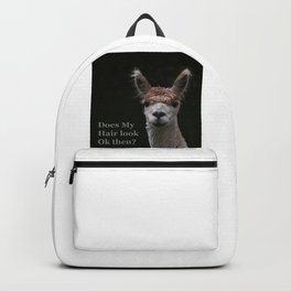 Funny hairstyle alpaca hairdressing Backpack