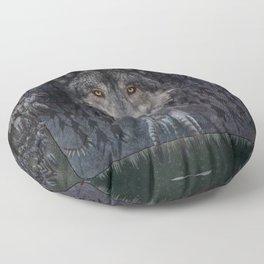 Winter mode - Wolf Dreamcatcher Floor Pillow