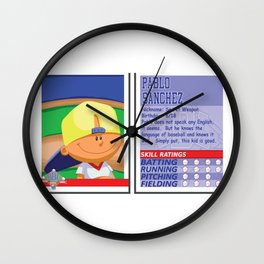 Pablo Sanchez Stat Card -Backyard Baseball Wall Clock