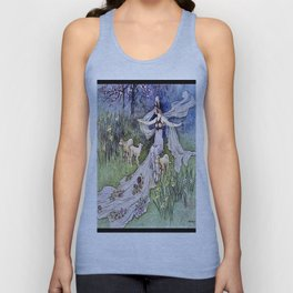 """The Fairy Queen"" by Warwick Goble 1900 Unisex Tank Top"