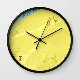 Roe deers Wall Clock