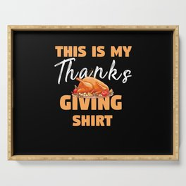 Thanksgiving Food Funny Serving Tray