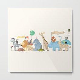 little safari parade Metal Print