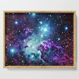 Fox Fur Nebula : Purple Teal Galaxy Serving Tray