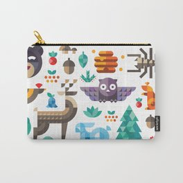 Geometric animals in forest Carry-All Pouch