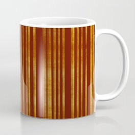 Golden and Terracotta Color Stripes Pattern Coffee Mug