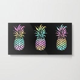 Rainbow Pineapple Metal Print