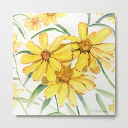 Sunny Flowers Perennial Metal Print