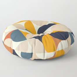 mid century abstract shapes fall winter 1 Floor Pillow