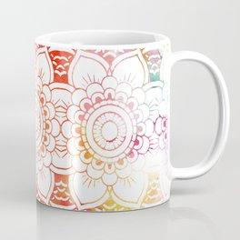 Trendy elegant coral watercolor floral mandala Coffee Mug