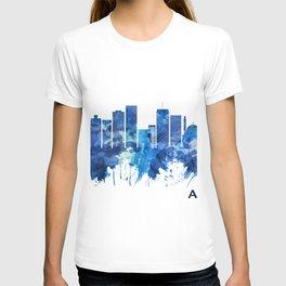 Abidjan Ivory Coast Skyline Blue T-shirt