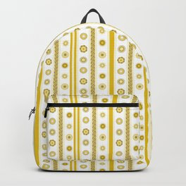Yellow flowers align Backpack