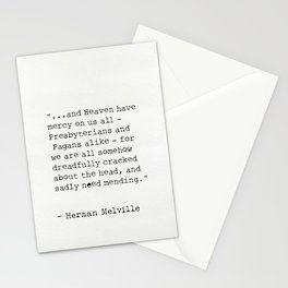 Herman Melville quote 6 Stationery Cards