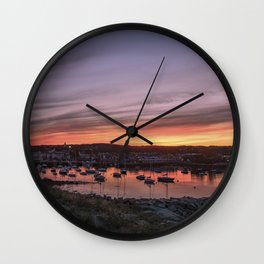 Last Rockport Sunset of Summer Wall Clock