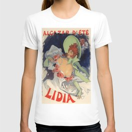 Alcazar D Te Lidia 1893 By Jules Cheret | Reproduction Art Nouveau T-shirt