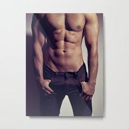 Sexy Male Body #9963 Metal Print