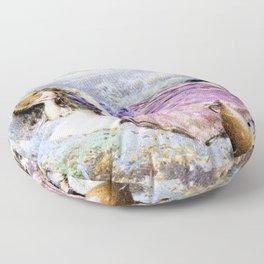 Myles Birket Foster - The shepherdess - Digital Remastered Edition Floor Pillow