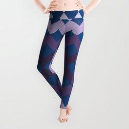Blue Purple Quilt Leggings