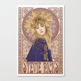 Stevie Nicks Mucha Art Print Canvas Print
