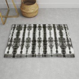 Black and White Tiki Shibori Rug