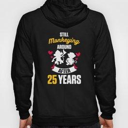 25th 25 year Wedding Anniversary Gift Monkeying Husband Wife product Hoody