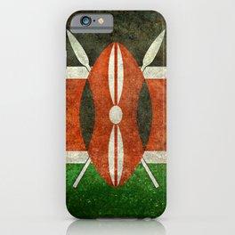 National flag of Kenya -Vintage version, to scale iPhone Case