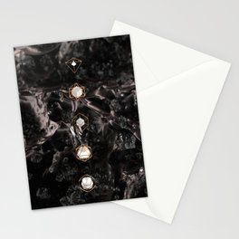 Platonic Solids // Silk Stationery Cards