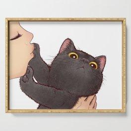 cat : huuh Serving Tray