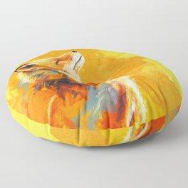Blissful Light - Fox portrait Floor Pillow
