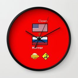 Clown Horror Wall Clock