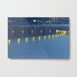safety barriers with buoy chain Metal Print