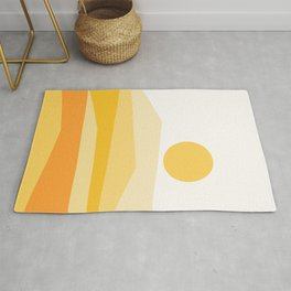Abstract Landscape 09 Yellow Rug