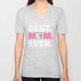 Chow Chow Mom Unisex V-Neck