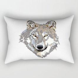 Wolf Face Rectangular Pillow