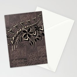 Vintage Hawaiian Tribal Petrogyph Pattern Stationery Cards