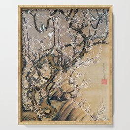 Ito Jakuchu - Birds And Plum Blossoms - Digital Remastered Edition Serving Tray