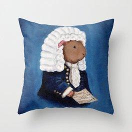 Johann Sebastian Bach the Guinea Pig Throw Pillow