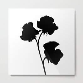 Sweet Pea Silhouette Metal Print