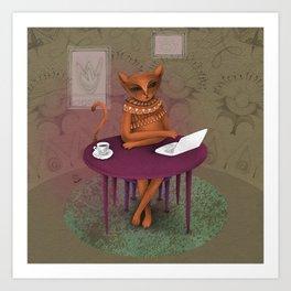 when I'm a cat - I pretend to work Art Print